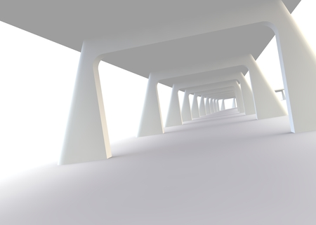 balk: Abstract design of a bridge in modern style