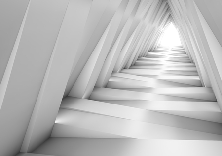 tunnel light: Abstract tunnel in the gray notes. The light at the end of the tunnel. 3D illustration