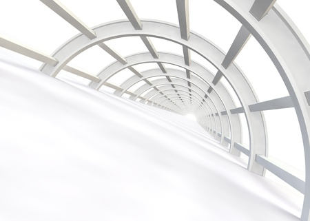 aisle: Abstract the construction of the bridge in a modern style. 3D illustration