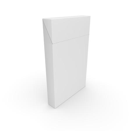 Empty pack for slim cigarettes. Rod designer. 3D illustration