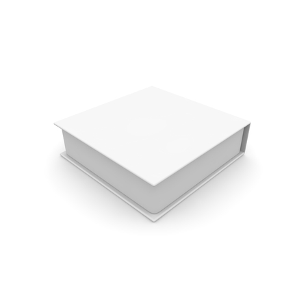 Empty white box for gifts and other goods. Isolated white background. High resolution. 3D render