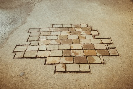bricks in the pavement photo