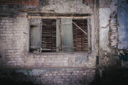 without window: old woode window without glass