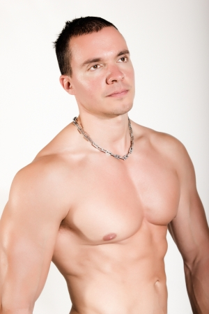 Torso of fit and muscular man  Stock Photo - 16272937