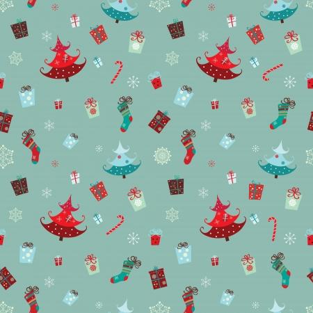 Une collection de motifs traditionnels de Noël a rassemblé dans un modèle homogène Banque d'images - 23763789