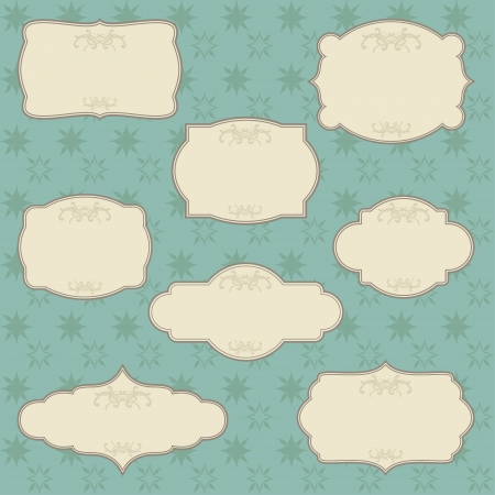 A blank set consisting in eight Christmas labels Illustration