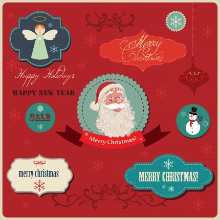 fur cap: A Christmas vector set  Illustration