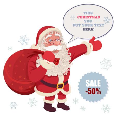 Santa Claus posing for commercial purpose
