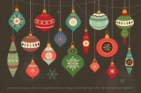Collecte des boules de Noël Banque d'images - 34079162