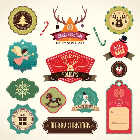 Tiquettes de Noël ensemble Banque d'images - 34079203