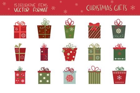 motivos navideños: Regalos de la Navidad fijaron
