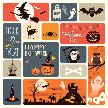 dynia: Elementy Halloween Ilustracja