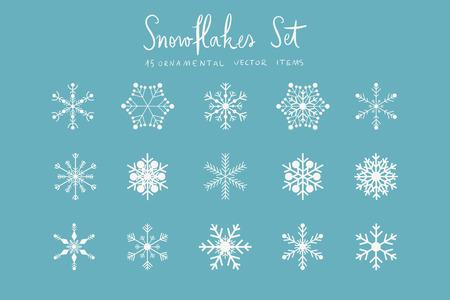 graphic illustration: Snowflakes set