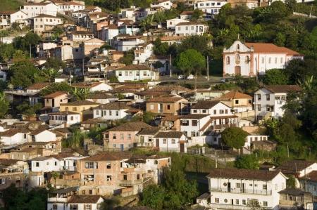 View of city of Ouro Preto in Minas Gerais, Brazil