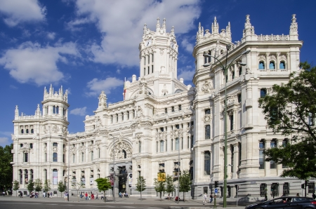 Cibeles Palace - formerly Communications Palace, now Madrid City Hall Editorial