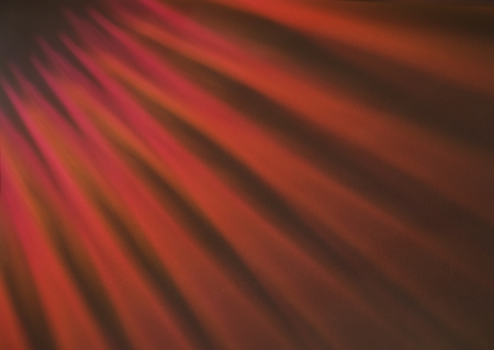 Red light shining onto a ceiling Stock Photo