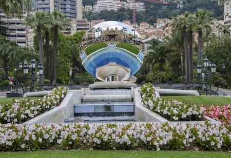 Sky Mirror reflecting Monte Carlo casino in Monaco