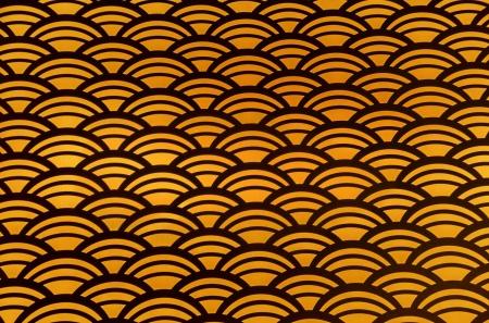festonati: Arancio e nero senza motivo smerlato