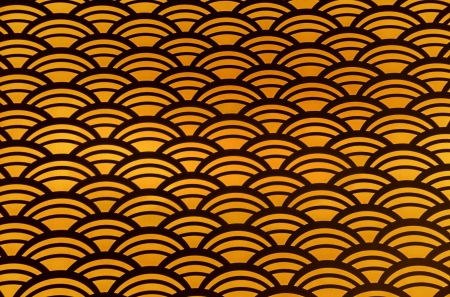 Orange and black seamless scalloped pattern