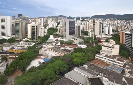 City landscape of downtown Belo Horizonte, Brazil