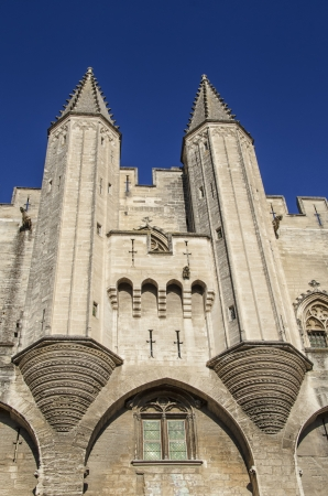 avignon: Close-up of the Papal palace in Avignon, France Stock Photo