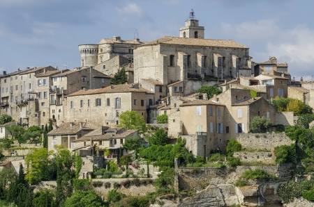 One of the hilltop villages of the Luberon, Provence, France