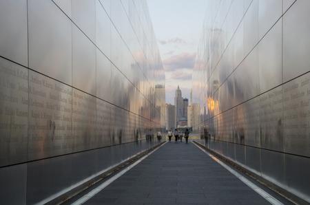 September 11 Memorial  Empty Sky  in Jersey City, New Jersey Editorial