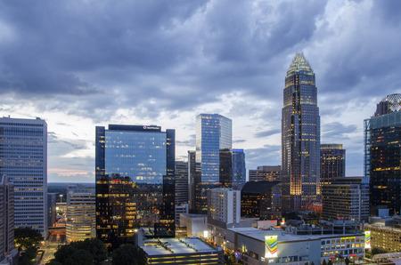 Charlotte, North Carolina at sunset