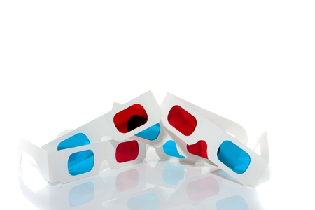 3D glasses isolated over a white background photo