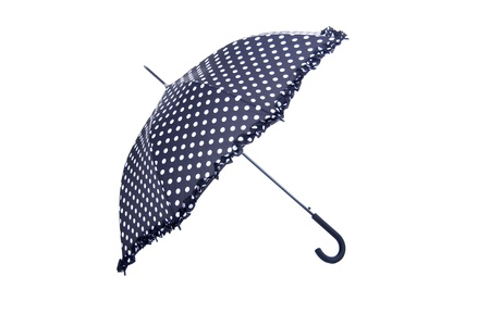 black and white dotted umbrella