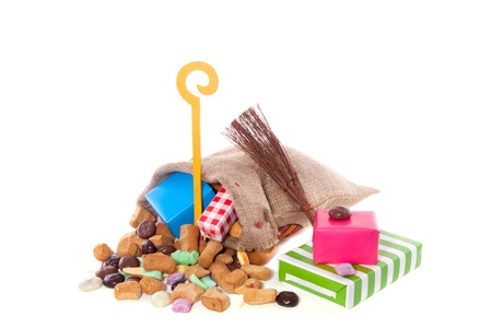 Traditional Sinterklaas celebration in Holland with gifts and candy Stock Photo - 15302741