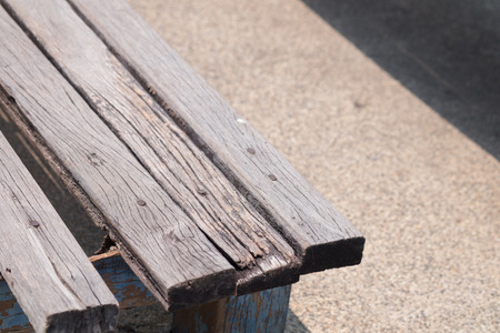 wood bench: Wood bench in the park Stock Photo