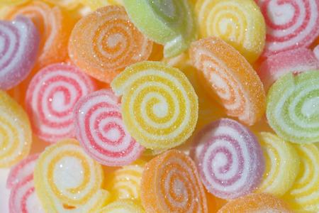 sweet background: Colorful jelly fruit sweet background