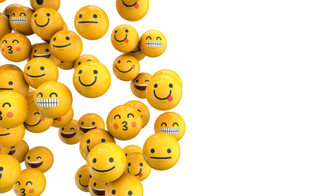 Emoji emoticon character background collection. 3D Rendering Stok Fotoğraf - 84119221