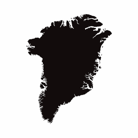 Greenland vector country map
