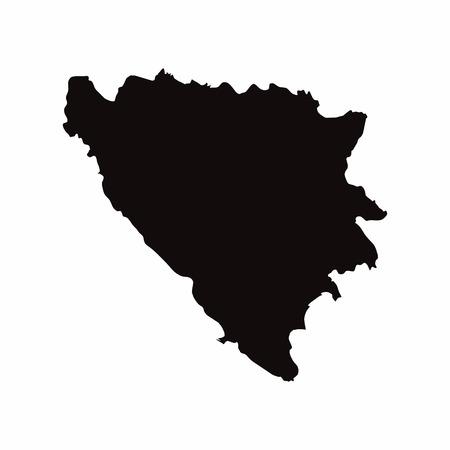 Bosnië vector landkaart