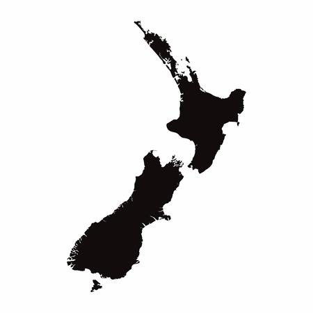 New Zealand vector country map Stock Illustratie