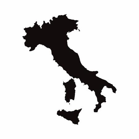 이탈리아 벡터 국가지도