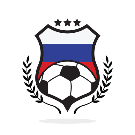 Russia national flag football crest, a logo type