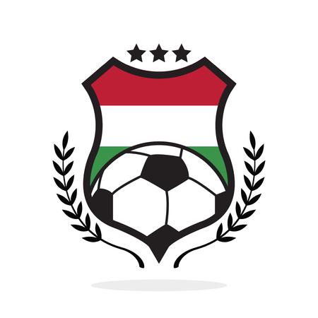 Maďarská národní vlajka fotbalový hřeben, ilustrace typu loga Ilustrace