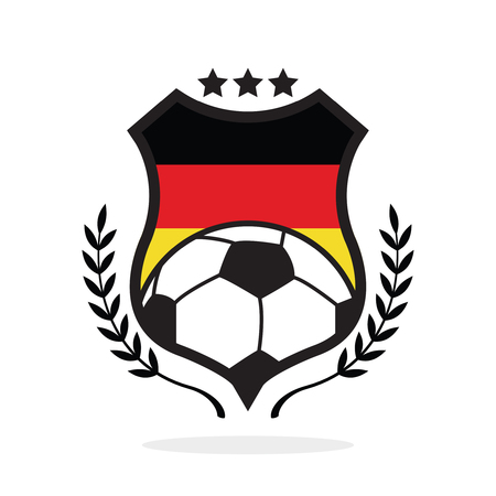 Germany national flag football crest, a logo type illustration Illustration