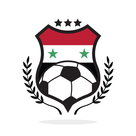 Syria national flag football crest, a logo type