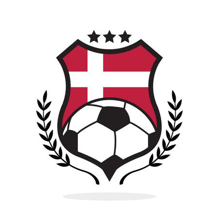 Denmark national flag football crest