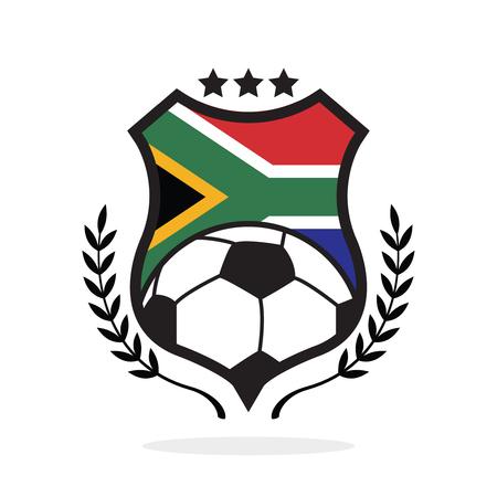 Jižní Afrika národní vlajka fotbalový hřeben, typ loga