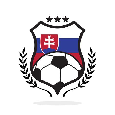 Slovakia national flag football crest