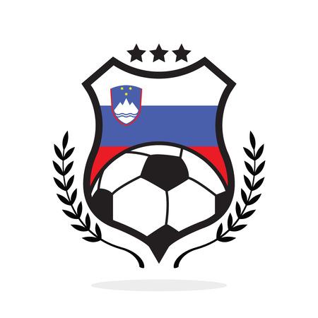 Slovenia national flag football crest