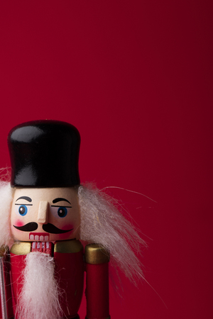 Festive christmas nutcracker soldier toy