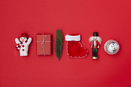 Collection of Christmas decorations background.
