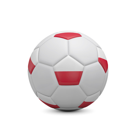Soccer football with Poland flag. 3D Rendering