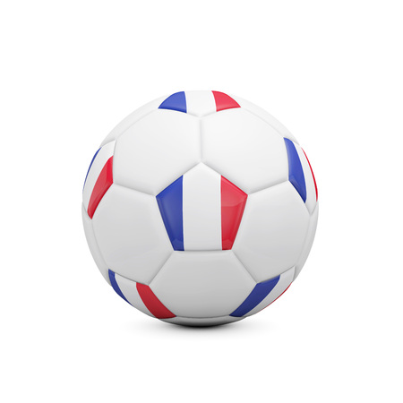 Soccer football with france flag. 3D Rendering Stock Photo